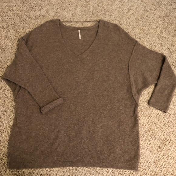 Taupe free People sweater